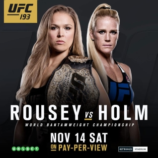 Ronda Rousey x Holly Holm 15/11/2015