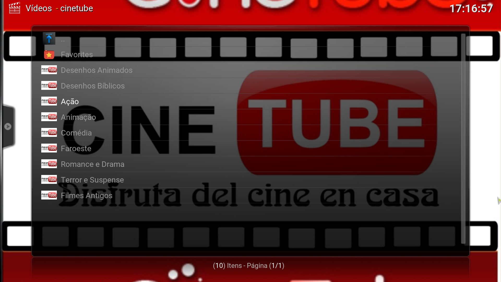 Categorias Cinetube